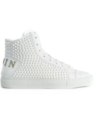 Philipp Plein spike studded hi-top sneakers (wit)