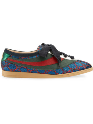 Gucci Falacer lurex GG sneaker with Web - Blue