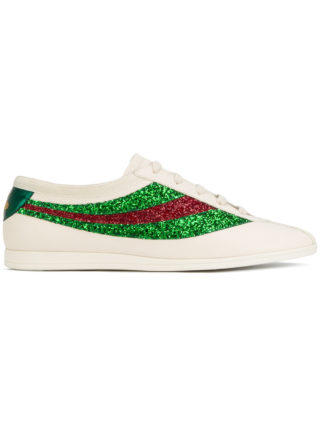 Gucci Falacer sneakers with sequinned Web - White