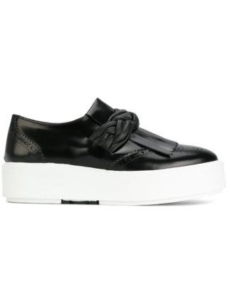 Morobé knotted detail sneakers (zwart)