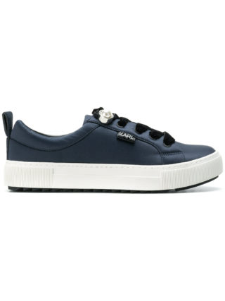 Karl Lagerfeld pearl detail sneakers (blauw)
