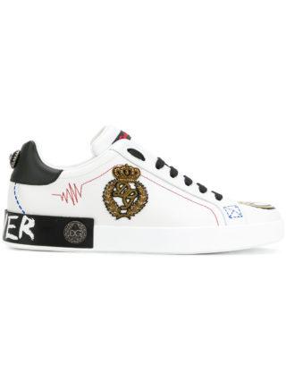 Dolce & Gabbana appliqués sneakers (wit)