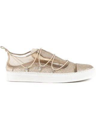 Dsquared2 mesh panelled sneakers (zilver)