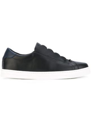 Fendi Black Logo Stripe slip on sneakers (zwart)
