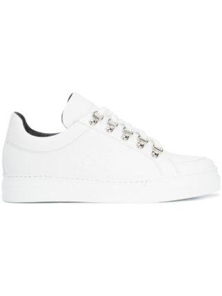 Balmain embossed low-top sneakers (wit)