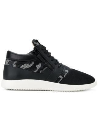 Giuseppe Zanotti Design Runner camouflage sneakers - Black