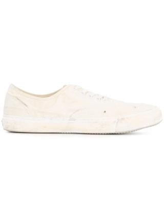 Yoshiokubo Damage low top sneakers (wit)