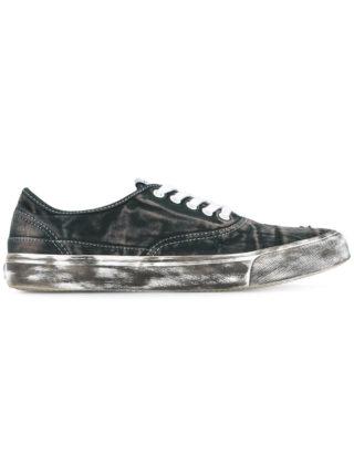 Yoshiokubo Damage low top sneakers (zwart)