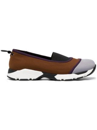 Marni Brown Neoprene Slip On Sneakers (bruin)
