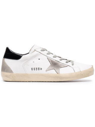 Golden Goose Deluxe Brand Distressed White Superstar sneakers