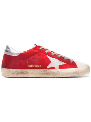 Golden Goose Deluxe Brand Metallic Red superstar leather sneakers (rood)