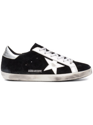 Golden Goose Deluxe Brand black superstar suede sneakers (zwart)