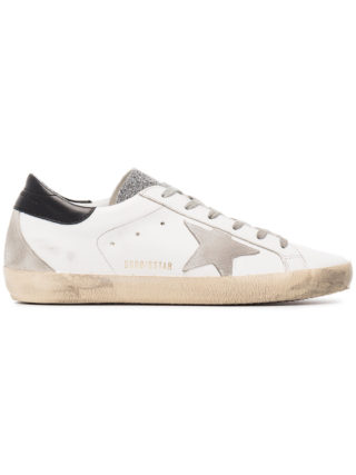 Golden Goose Deluxe Brand white grey glitter superstar sneakers (wit)