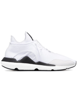 Y-3 Saikou suede trimmed sneakers - White