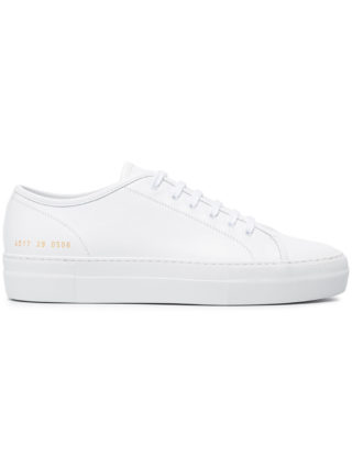 Common Projects White Tournament leather sneakers