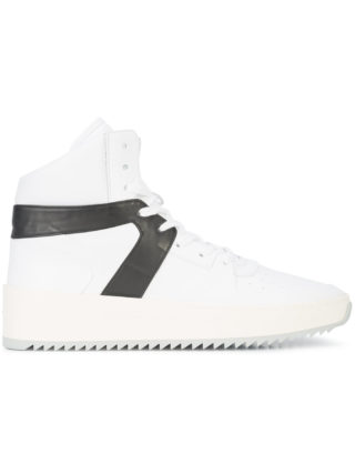 Fear Of God contrast stripe hi-top sneakers (wit)