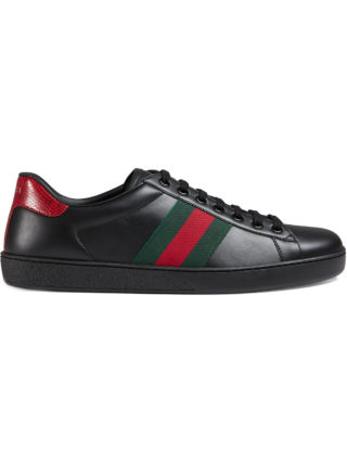 Gucci Ace leather sneakers - Black