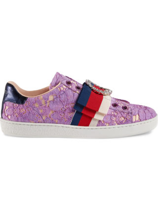 Gucci Ace lace sneakers (roze/paars)
