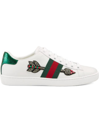 Gucci Ace embroidered sneakers (wit)