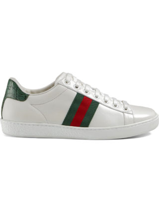 Gucci Ace leather sneakers - White