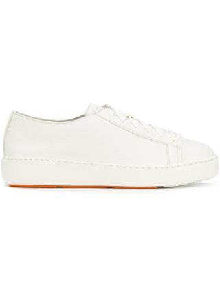 Santoni flatform sneakers (wit)