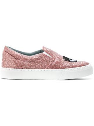 Chiara Ferragni Logomania slip-on sneakers (roze/paars)