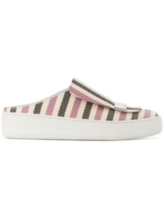 Sergio Rossi sr1 striped backless slip-on sneakers (Overige kleuren)