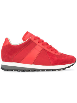 Maison Margiela tonal lace-up sneakers (rood)