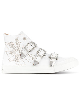 Chloé Kyle buckled hi-top sneakers (wit)