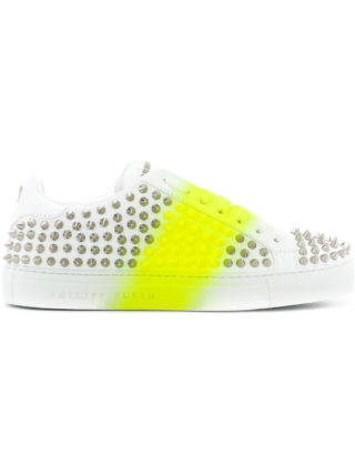 Philipp Plein studded platform sneakers (wit)