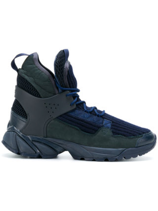 Undercover ribbed hi-top sneakers (blauw)