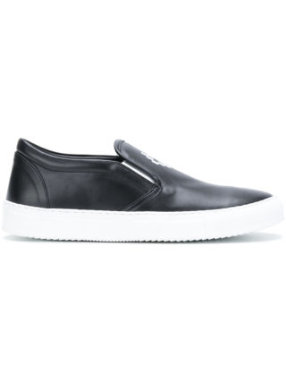 Marcelo Burlon County Of Milan Logo slip-on sneakers (zwart)