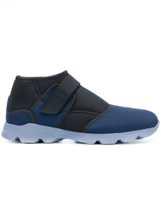 Marni two tone touch strap sneakers (blauw)
