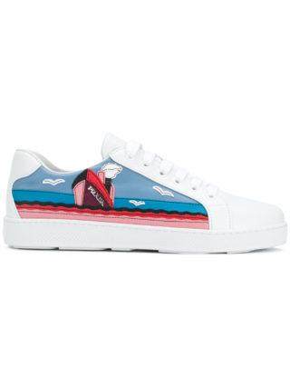 Prada cruise motif sneakers (wit)