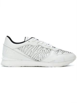 Kenzo laser cut tiger stripe sneakers (wit)