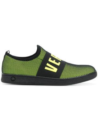 Versus logo strap sneakers (zwart)