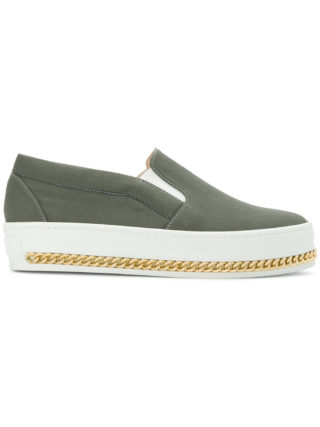 Mr & Mrs Italy slip-on curb chain sneakers (groen)