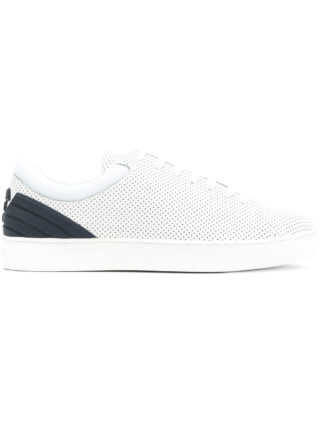 Emporio Armani perforated Tennis sneakers (wit)