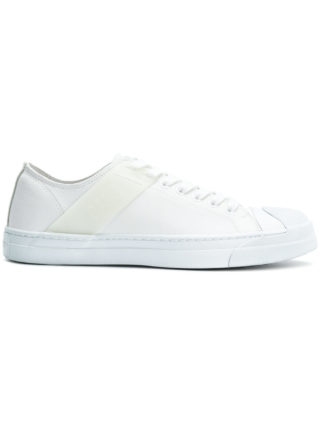 Neil Barrett classic leather sneakers (wit)