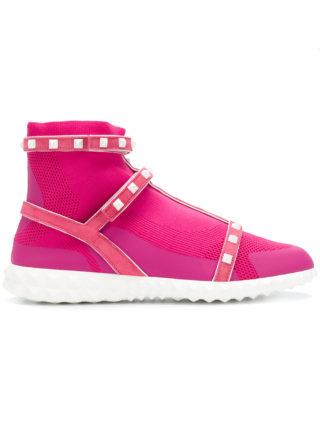 Valentino Rockstud Bodytech sneakers - Pink & Purple