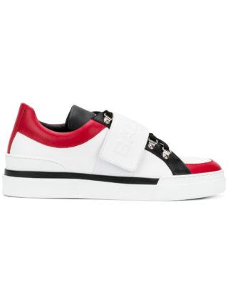 Balmain logo touch strap sneakers (wit)