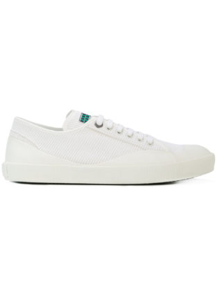 Lanvin ribbed low top sneakers (wit)