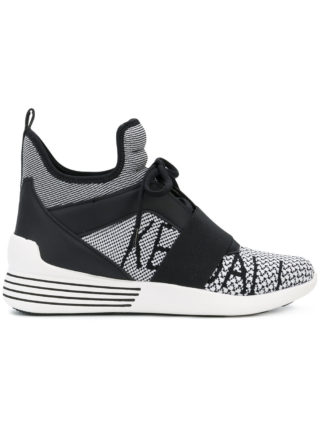 Kendall+Kylie high top sneakers (zwart)