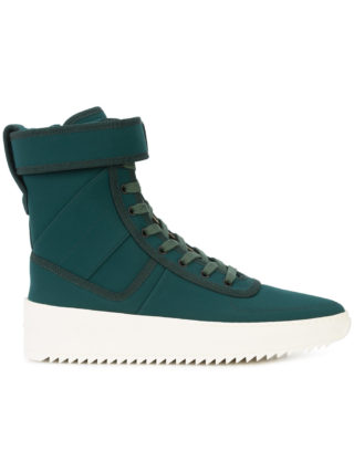 Fear Of God hi-top ankle strap sneakers (groen)