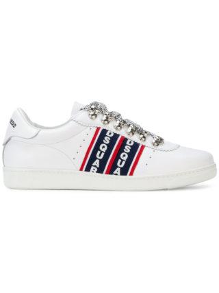 Dsquared2 Barney logo stripe sneakers - White