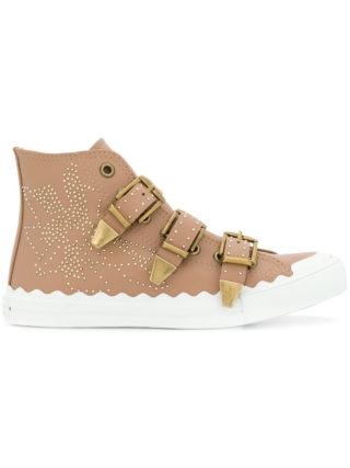 Chloé embellished sneakers (bruin)