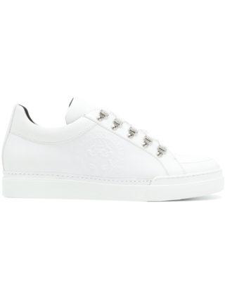 Balmain eyelet low-top sneakers (wit)