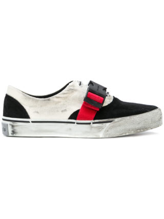 Palm Angels strap detail distressed sneakers (zwart)