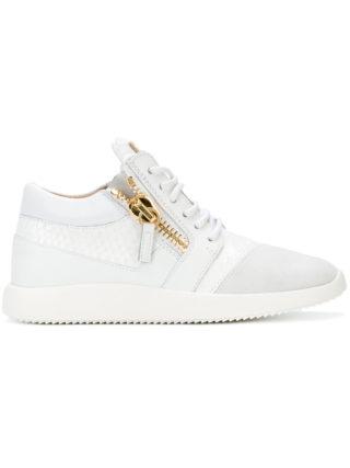 Giuseppe Zanotti Design python embossed Runner sneakers - White
