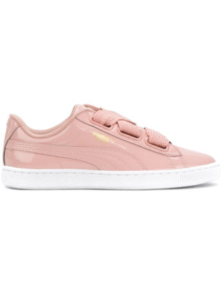 Puma basket heart patent sneakers - Pink & Purple